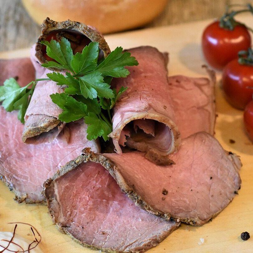 roast beef, beef, meat